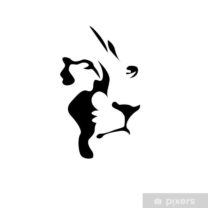 papier peint logo lion la force et le courage notion. Black Bedroom Furniture Sets. Home Design Ideas