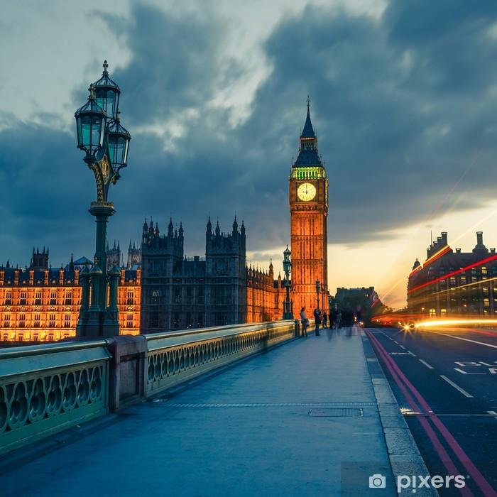 Naklejka Pixerstick Big Ben w nocy, Londyn - Tematy
