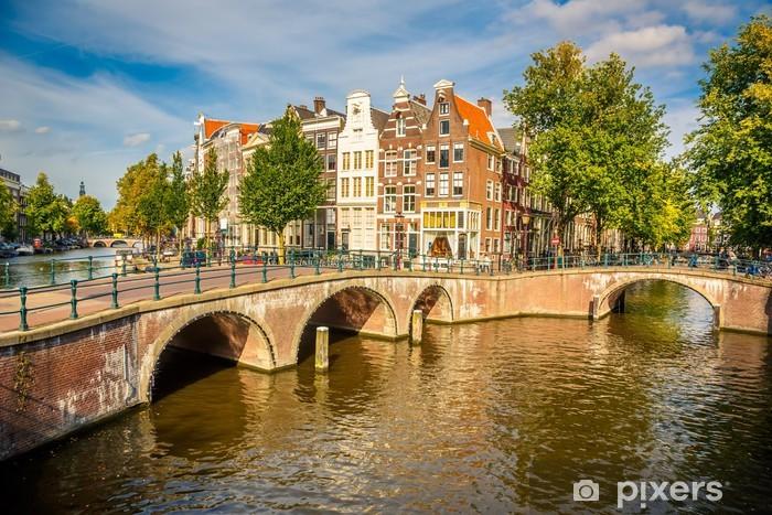 Vinyl Fotobehang Amsterdam stadsgezicht - Thema's