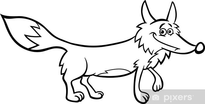 Vinilo Pixerstick Ejemplo del zorro de dibujos animados para ...