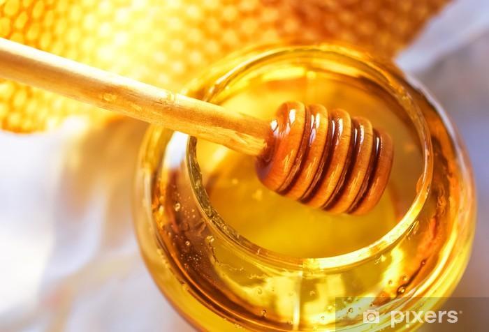 Honey dipper with bee honeycomb Vinyl Wall Mural - Meals