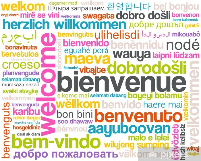 welcome - page d'accueil - bienvenue Vinyl Wall Mural - Backgrounds