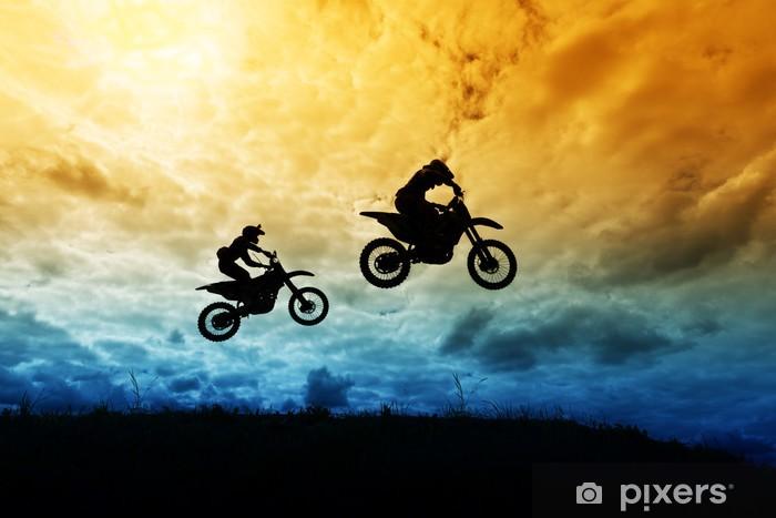 Мотокрос - motocross Pixerstick Sticker - Extreme Sports