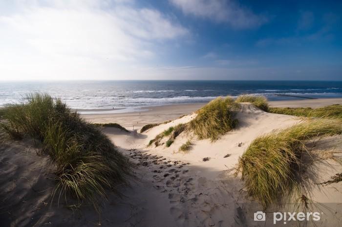 dunes and ocean Pixerstick Sticker - Themes
