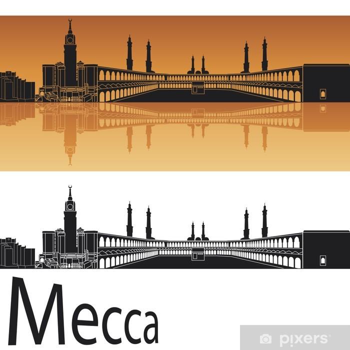 Pixerstick Sticker Mecca skyline - Midden Oosten