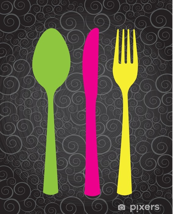 Cutlery Door Sticker - Themes