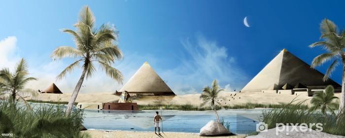 Sticker Pixerstick Egypte et pyramides - Monuments