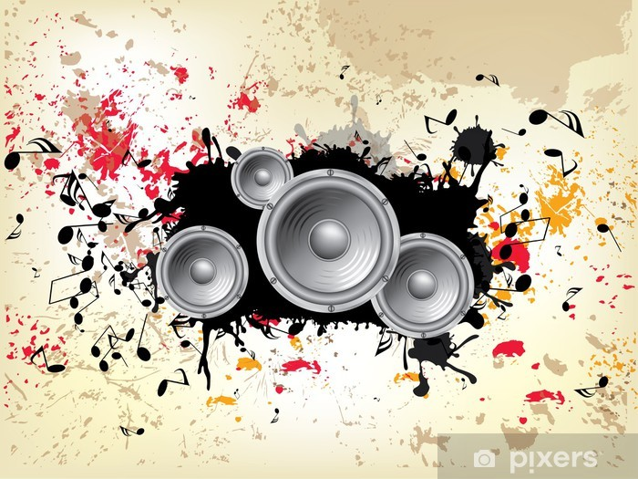 Grunge Müzik Arka Plan Teması Cam Ve Pencere çıkartması Pixers
