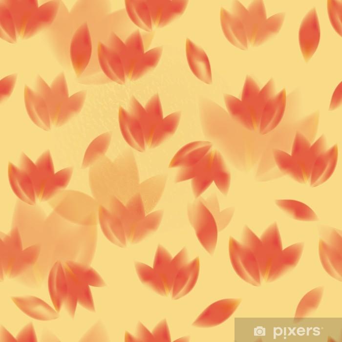 Orange Flowers Fresh Seamless Cheerful Wallpaper Wall Mural Pixers We Live To Change