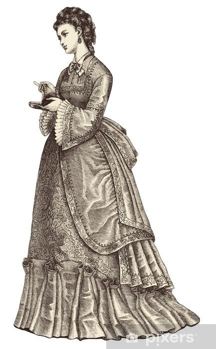 112d29ac6c Fototapeta winylowa Piękna młoda kobieta ma na sobie strój wieczorowy -  Tekstury