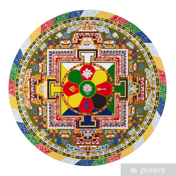 Fotomural Estándar Mandala tibetano - Vinilo para pared