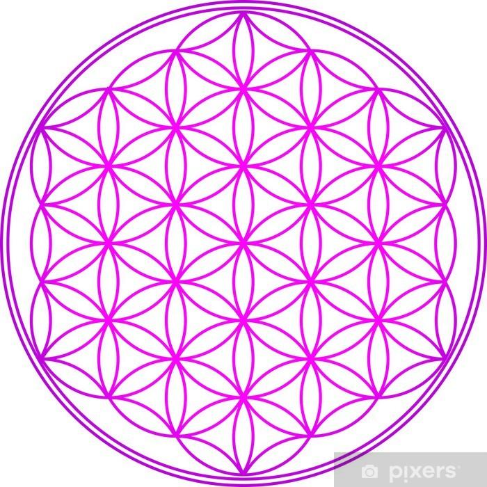 Naklejka Pixerstick Flower of Life - Sacred Geometry - Vector Różowy - Religie