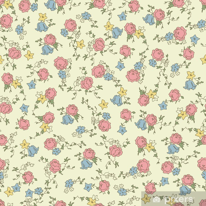 Papier peint vinyle Retro floral seamless - Styles
