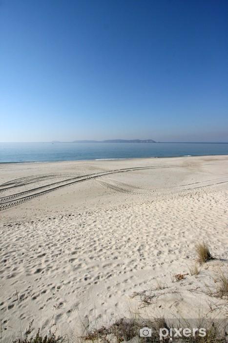 Pixerstick Aufkleber Dunes and Ons Inseln, Galicien - Urlaub