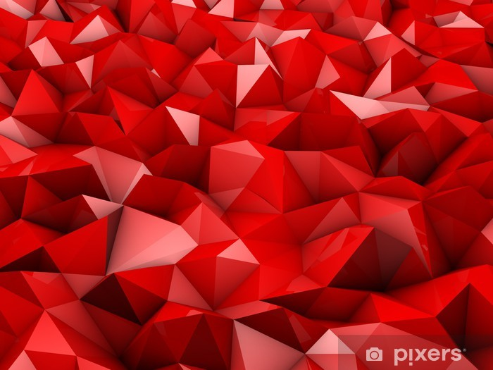 Wall Mural Vinyl Red Abstract Shapes
