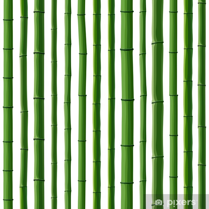 Seamless background of green bamboo forest  Wall Mural - Vinyl