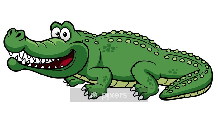 illustration of Cartoon crocodile vector Wall Decal - Other Other