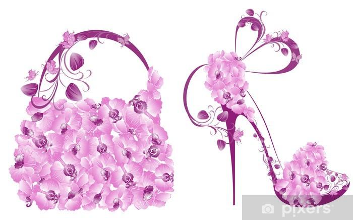 5da66936a8 Fototapeta Piękne kobiety buty i torebki • Pixers® • Żyjemy by zmieniać
