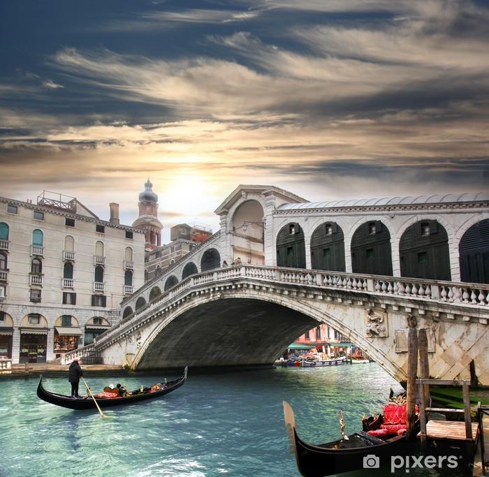 Venice with Rialto bridge in Italy Pixerstick Sticker -