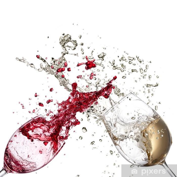White and red wine splash Pixerstick Sticker - Wall decals