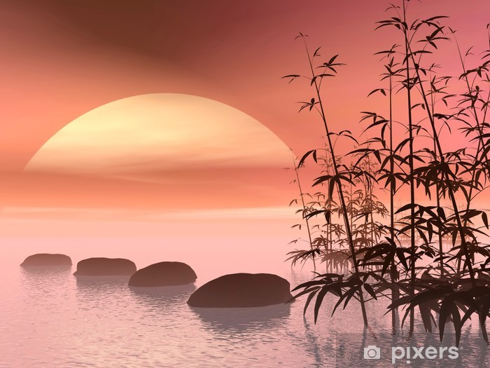 Asian steps to the sun - 3D render Pixerstick Sticker - Styles