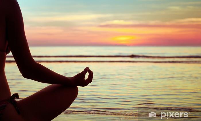 yoga abstract, lotus Pixerstick Sticker - Health