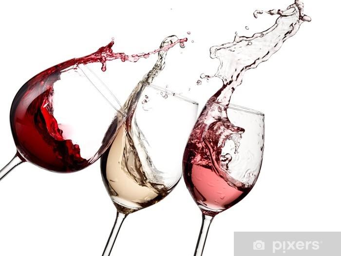 Papier peint vinyle Vin rouge, rose et blanc jusqu'à - Sticker mural