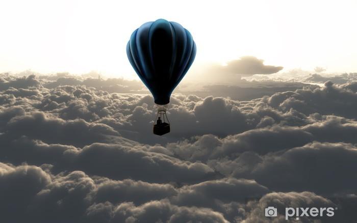 Afwasbaar Fotobehang Luchtballon boven de wolken - Stijlen