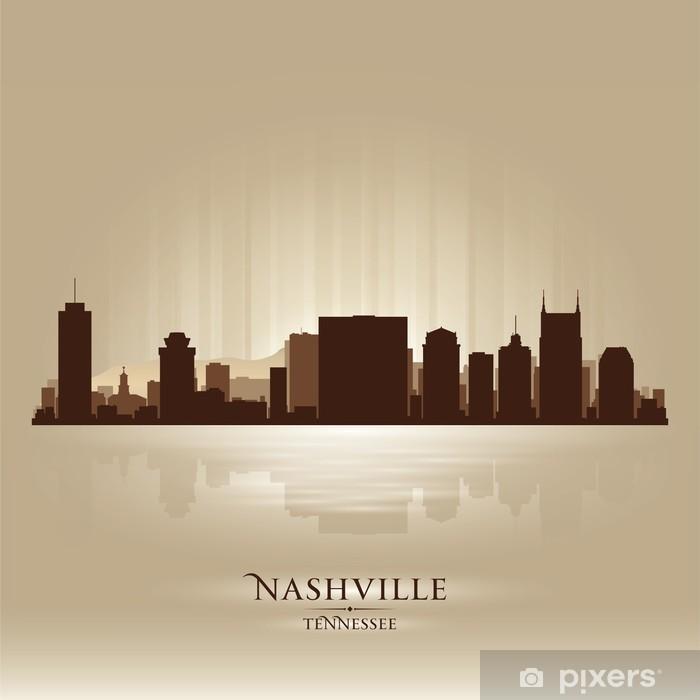 Nashville Tennessee skyline city silhouette Vinyl Wall Mural - America