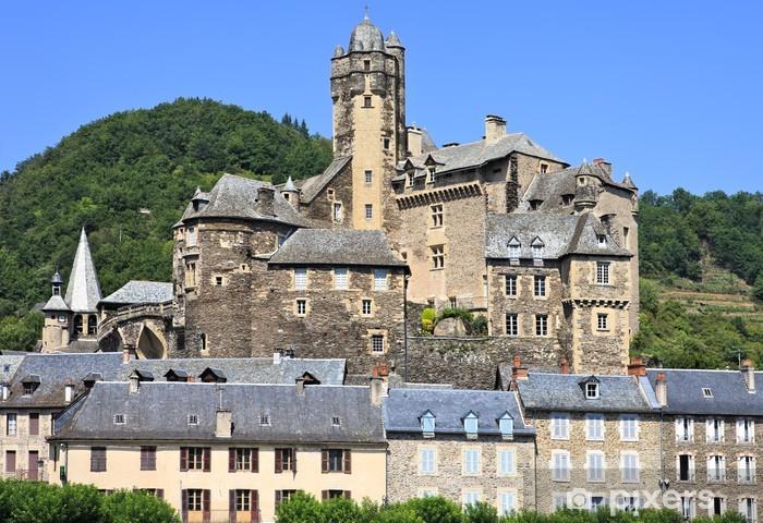 Nálepka Pixerstick Estaing vesnice v jižní Francii, na šířku - Evropa