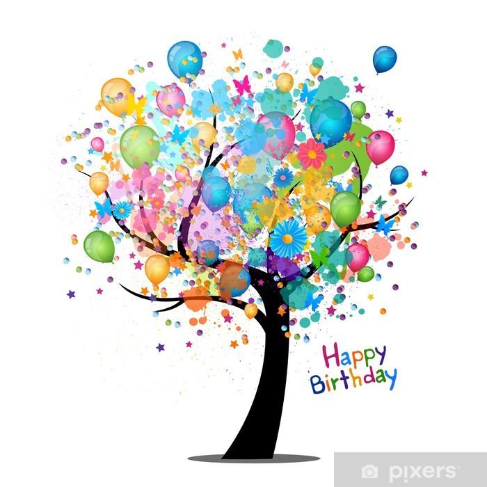 Fotobehang Vector Illustratie Van Een Gelukkige Verjaardag