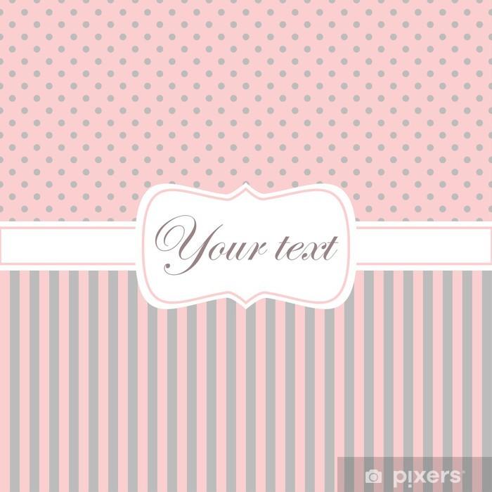 Molto Carta da Parati Invito carta rosa con pois e strisce • Pixers KG07