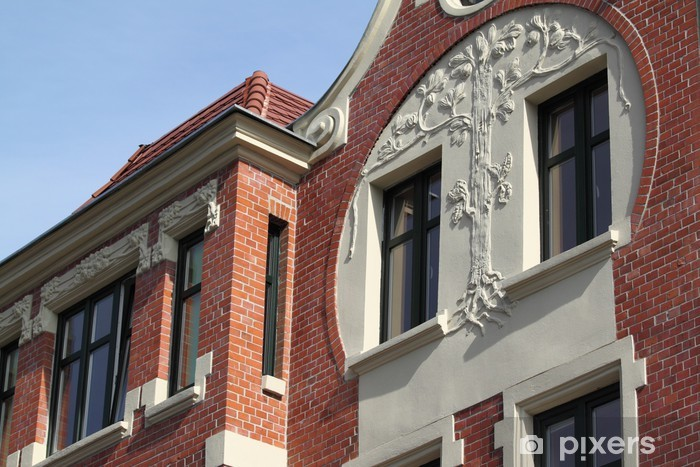 Building in Bytom. Pixerstick Sticker - Monuments