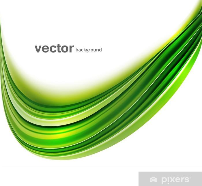 Vinyl Fotobehang Abstracte groene heldere kleurrijke technologie golf whit achtergrond - Tekens en Symbolen