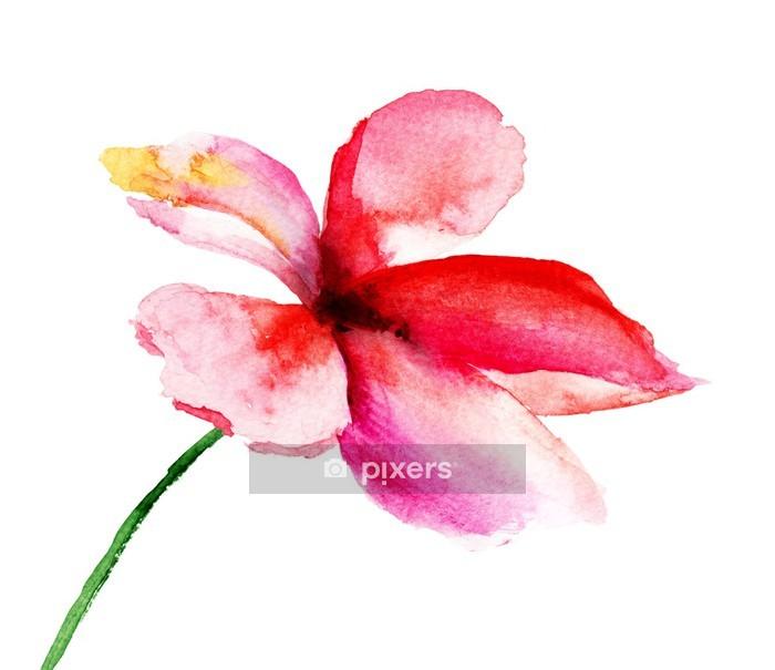 Naklejka na ścianę Stylizowane kwiaty - Style