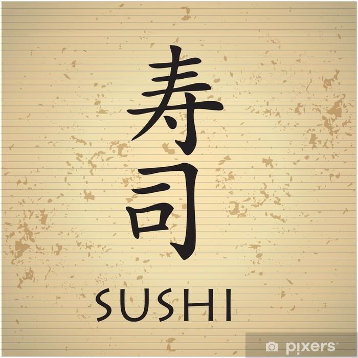Aufkleber Sushi Bar Menü Mit Japanischen Schriftzeichen Pixerstick