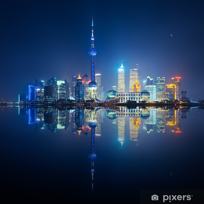 Vinilo Pixerstick Shanghai skyline - Ciudades asiáticas