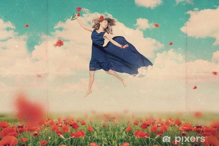 Sticker Pixerstick Art de collage avec belle femme - Femmes