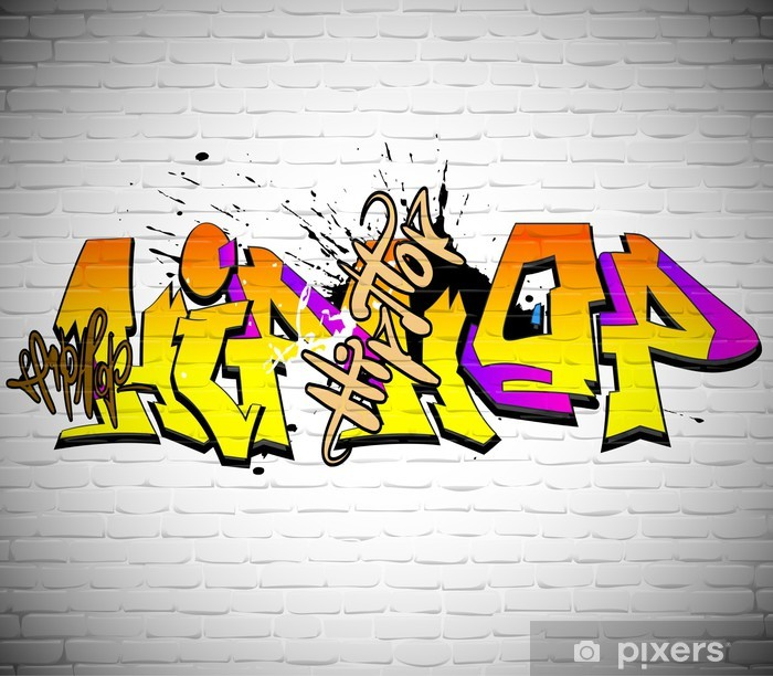 Graffiti wall background, urban art Vinyl Wall Mural - Themes