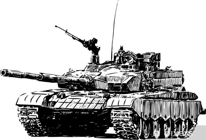Papier peint vinyle Machine militaire - Thèmes