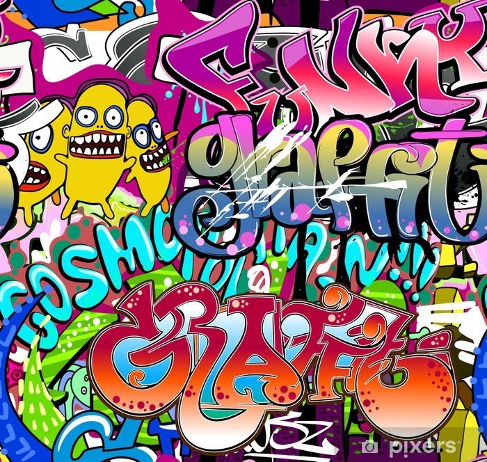 Plakat Graffiti ściany. tła miejskiego sztuki wektor. powtarzalne tekstury - Tematy