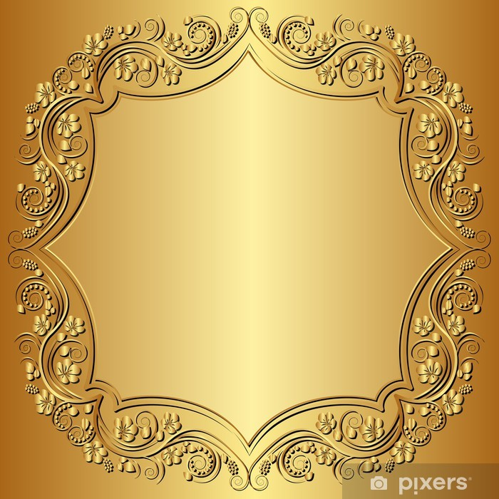 Vinyl-Fototapete Golden Background - Themen