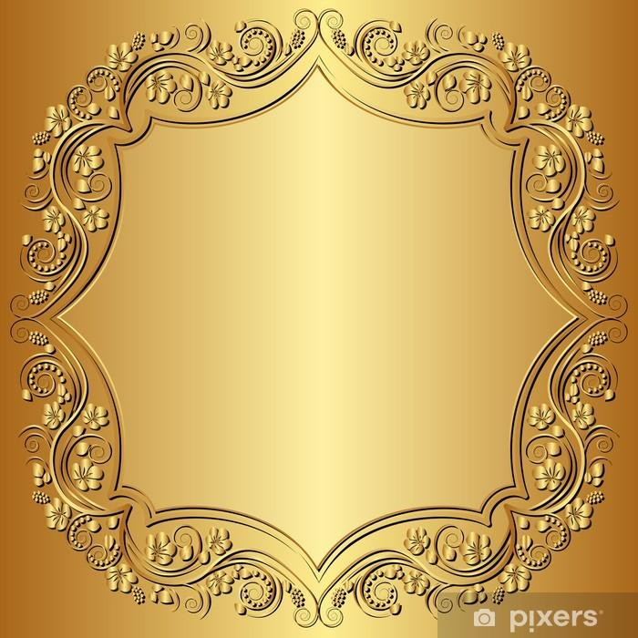 Sticker Pixerstick Fond d'or - Thèmes