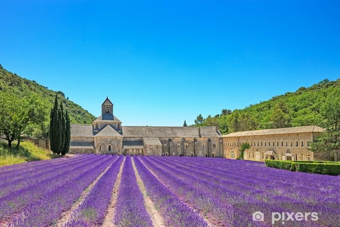 Papier peint vinyle Abbaye de Sénanque floraison des fleurs de lavande. Gordes, Luberon, Pr - Thèmes