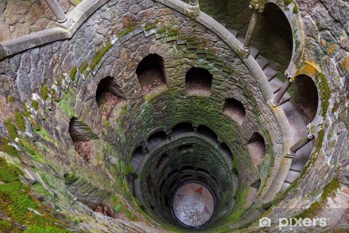 Pixerstick Aufkleber Die Initiation und der Quinta da Regaleira in Sintra, Portugal - Urlaub