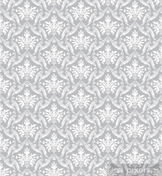 Carta da Parati in Vinile Carta da parati d'argento classico - Stili
