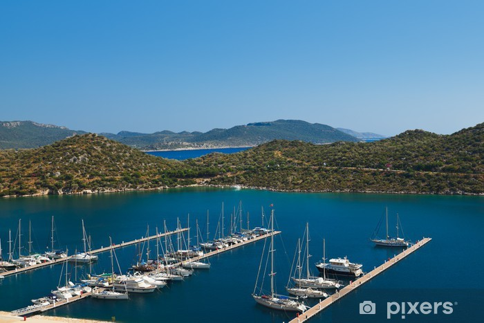 Nálepka Pixerstick Jachty v Kas Turecku - Prázdniny