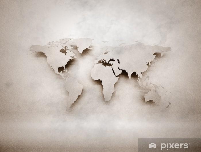 Fototapeta winylowa Abstract 3D mapy świata grunge - Style