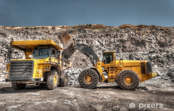 heavy building bulldozer quarry,car Vinyl Wall Mural - On the Road