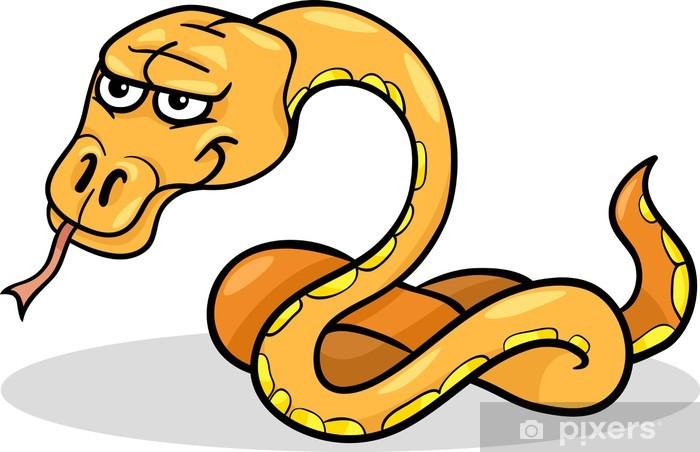 Papier peint vinyle Bande dessinée reptile serpent illustration - Autres Autres